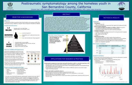 2014 APHA Research Poster: Trauma and Youth Homelessness